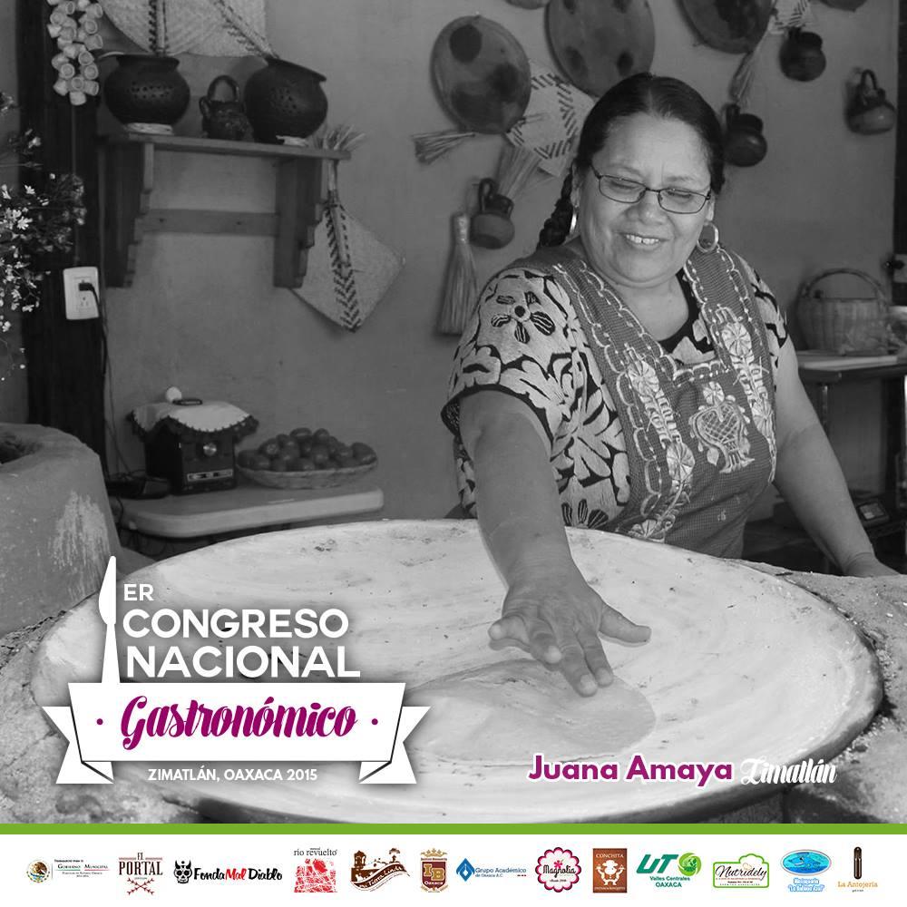 Juana Amaya 1er congreso nacional gastronomico Oaxaca