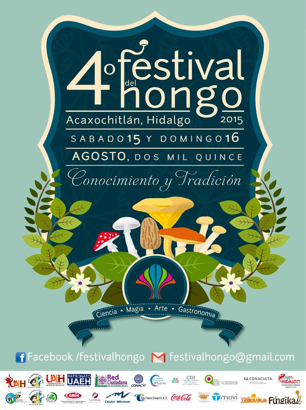 4to. Festival del Hongo. Agendalo!