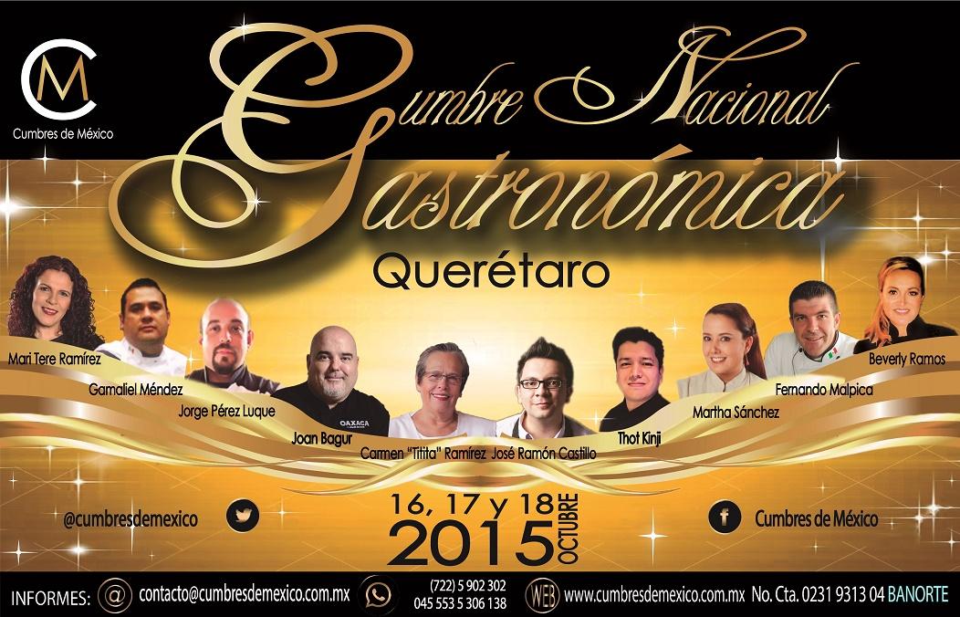 EV 005: Cumbre Nacional Gastronómica, Qro. 2015.