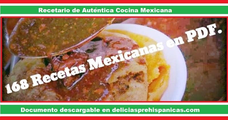 PDF 168 Recetas Mexicanas Auténticas.