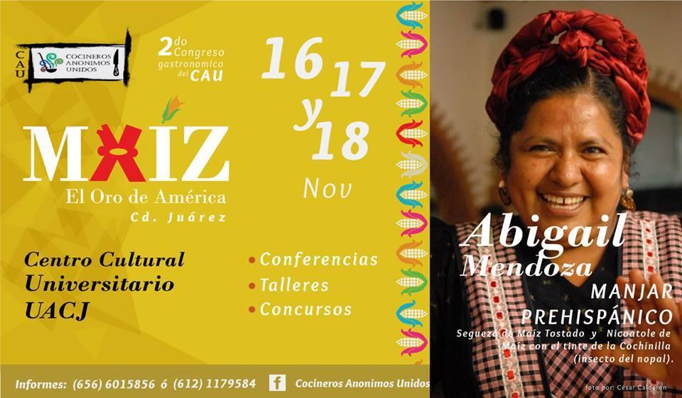 2do. Congreso Gastronómico del CAU: Re-descubriendo la Gastronomía Mexicana, Noviembre 2015