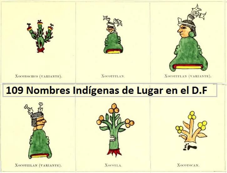 109 Nombres Indígenas de Lugar en el Distrito Federal.