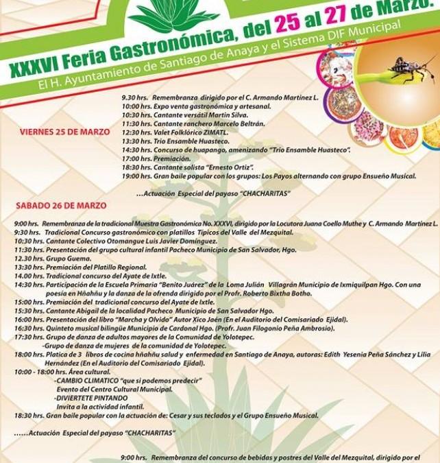 Feria Gastronómica de Santiago de Anaya 2016.
