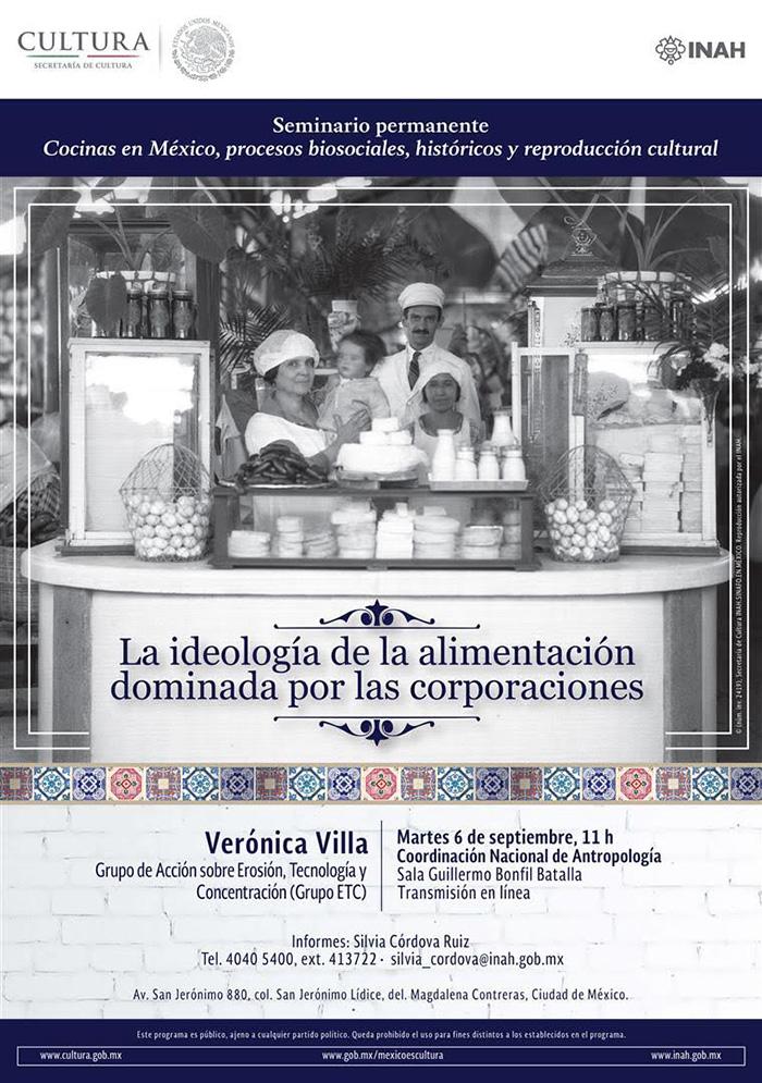 Seminario «Cocinas en México, procesos bisociales, históricos y reproducción cultural»