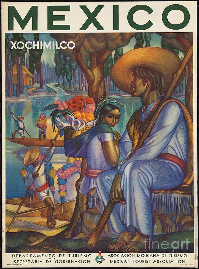 vintage mexico xochimilco