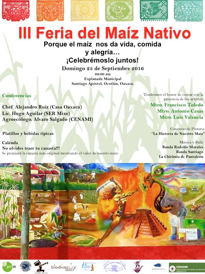 3a. Feria del maíz nativo de Oaxaca, 2016