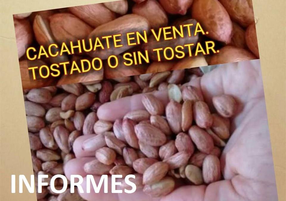 En Venta Una Tonelada de Cacahuate, directo del productor.