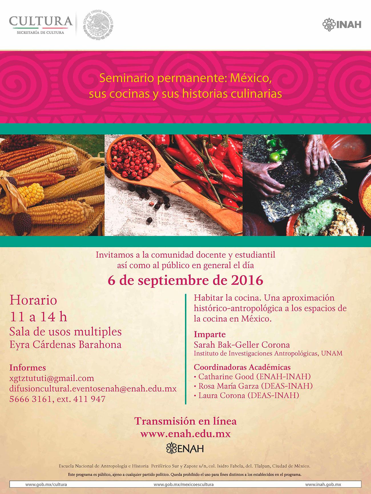 (OnLine) Seminario Permanente México, sus cocinas y sus historias culinarias