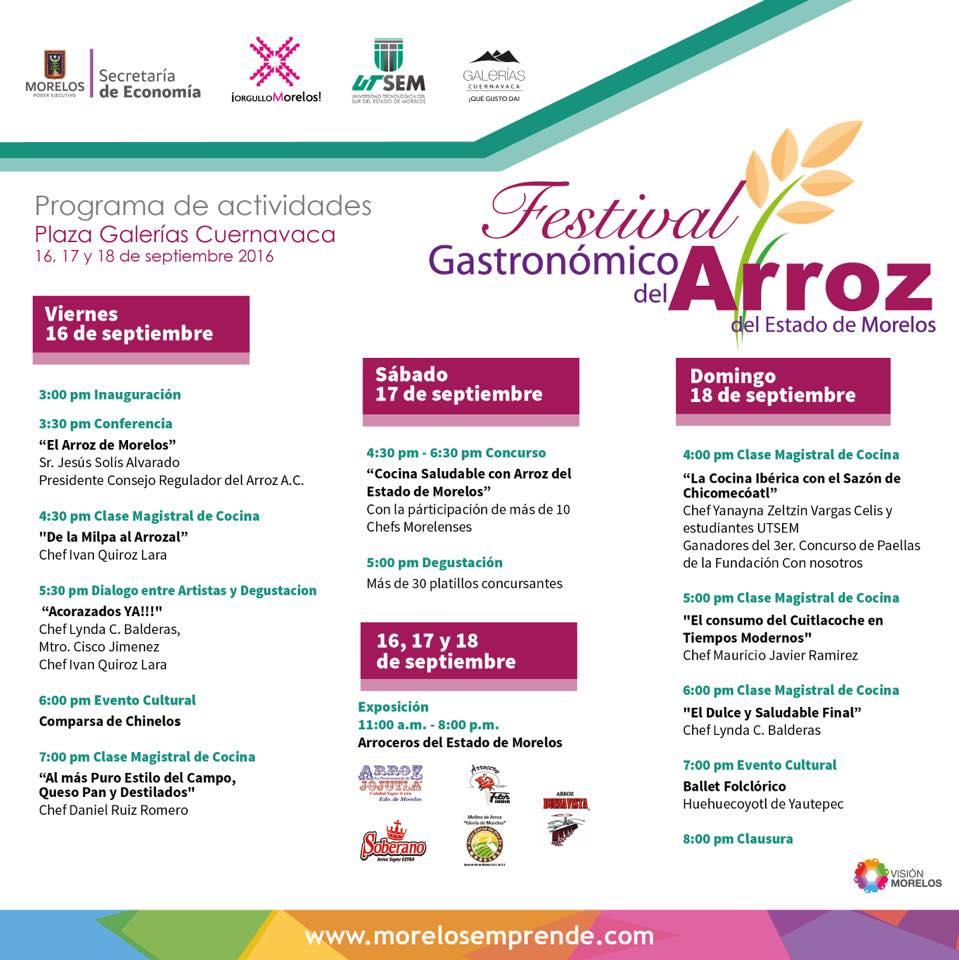 Festival Gastronómico del Arroz de Morelos