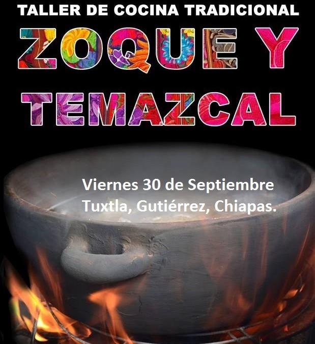 Invitación al Taller de Cocina Mequé o Fiesta Zoque Tuxtleca.