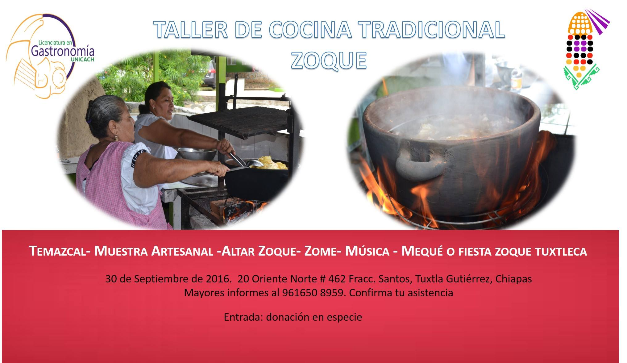 taller de cocina tradicional zoque