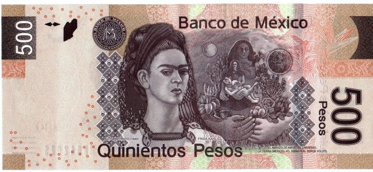 Billete Mexicano en el TOP TEN mundial.