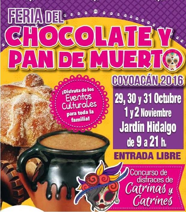 Feria del Chocolate y el Pan de Muerto. Coyoacán CDMX