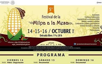 PROGRAMA del 5° Festival de la Milpa a la Mesa.