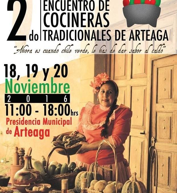 Segundo Encuentro de Cocineras Tradicionales de Arteaga. Noviembre 2016