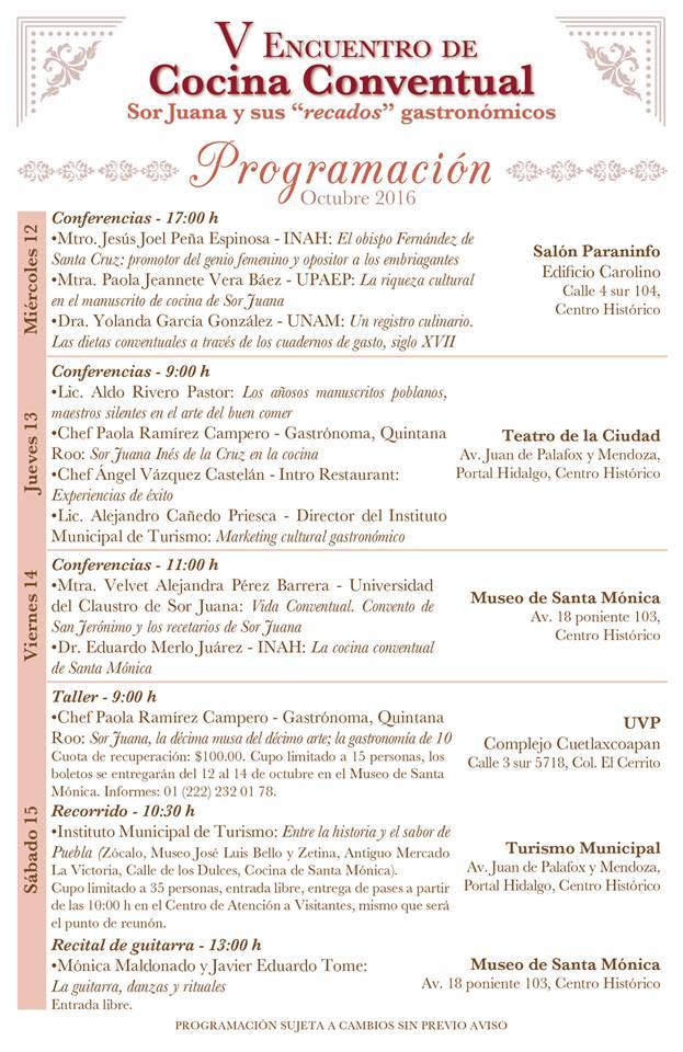 Sor Juana y sus Recados Gastronomicos V Encuentro Cocina Conventual