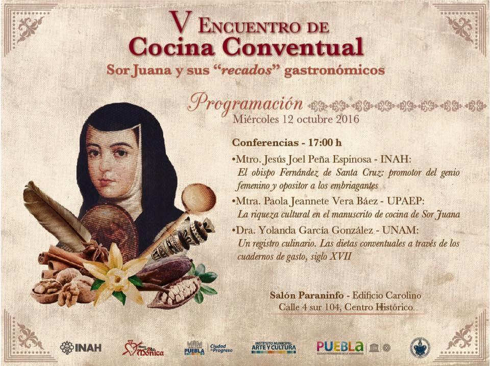 V Encuentro de Cocina Conventual, 12 al 15 de Octubre. PROGRAMA