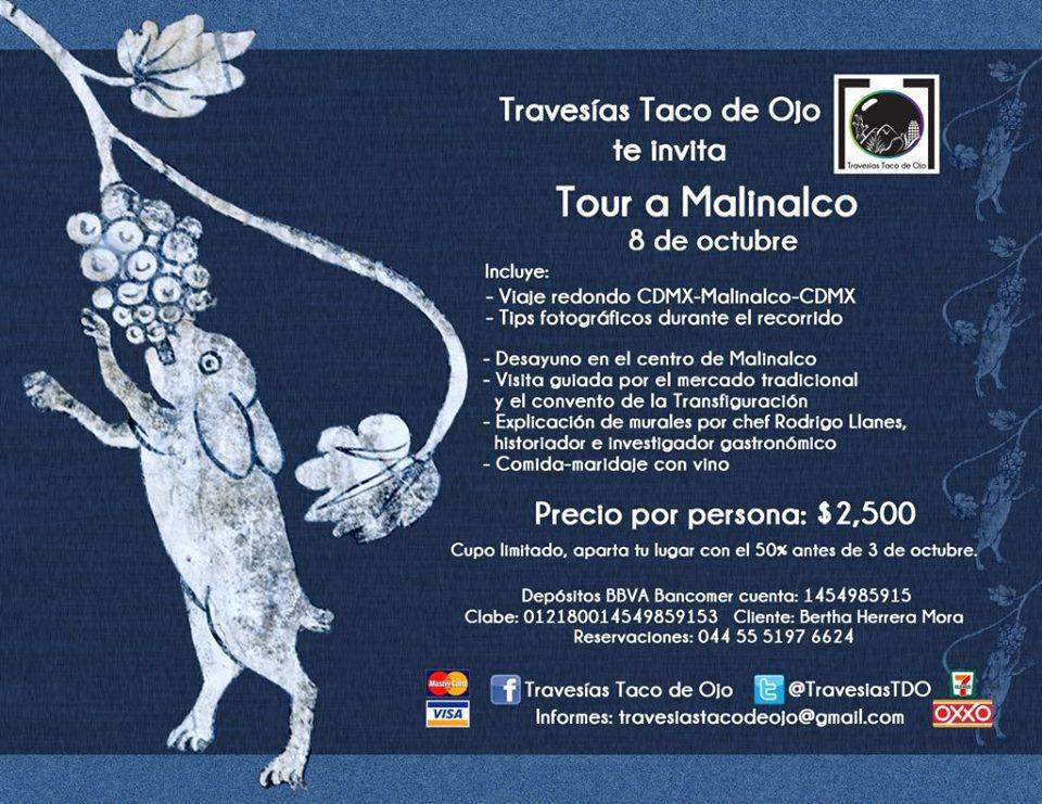 travesias taco de ojo Tour gastronomico malinalco