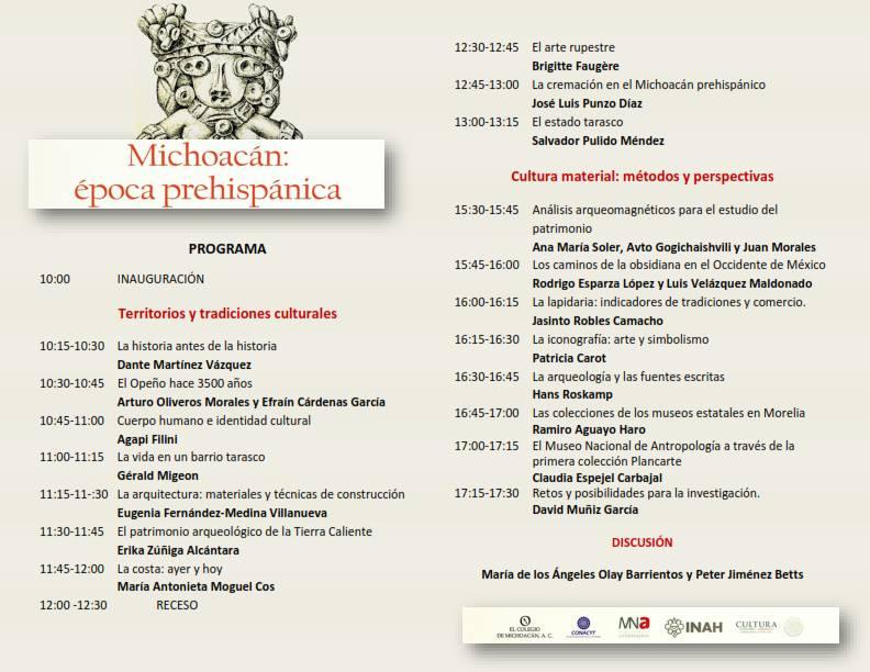 Michoacan epoca prehispanica programa coloquio