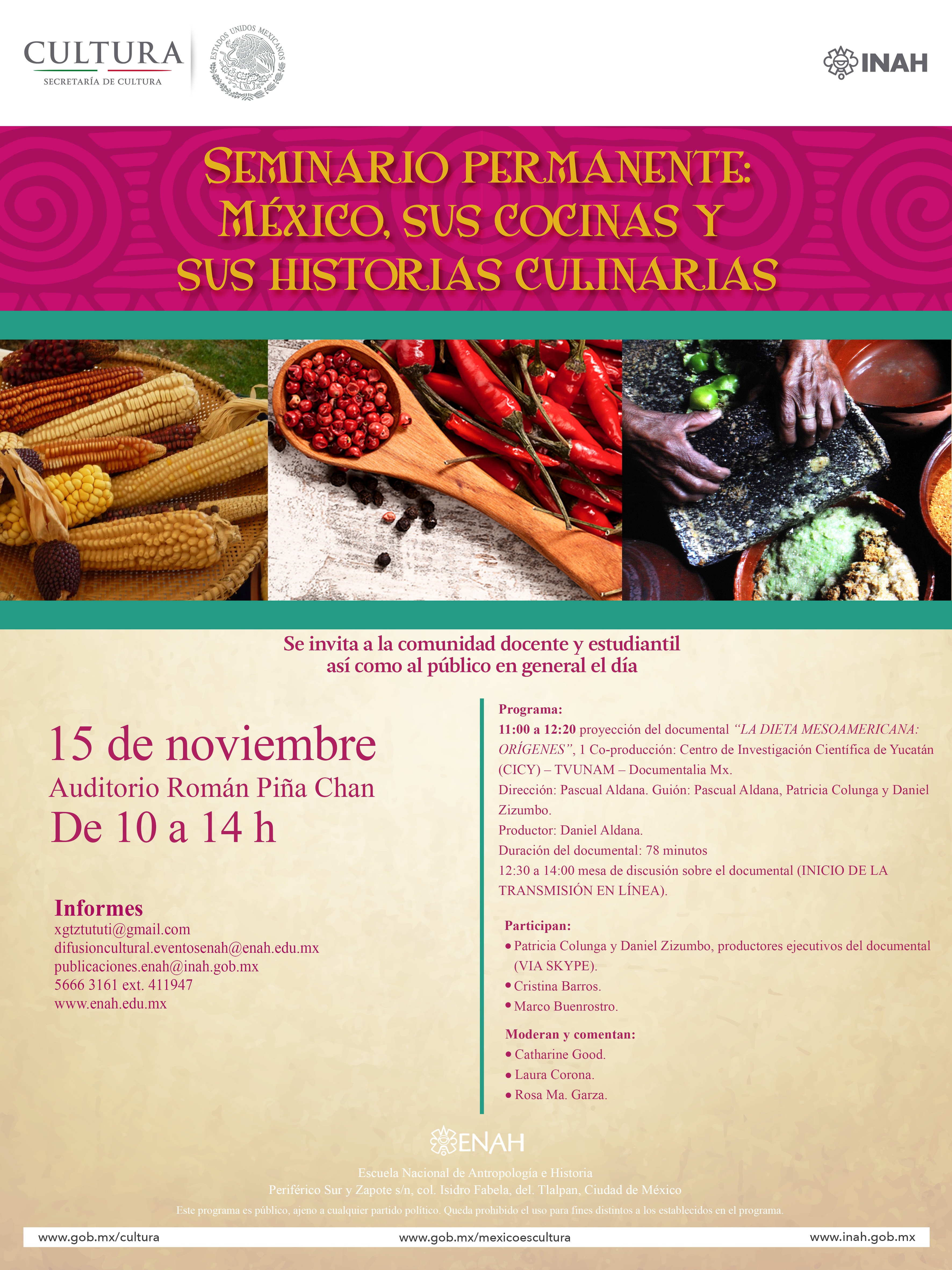 Sesión noviembre seminario cocina y cultura mexicana prehispanica