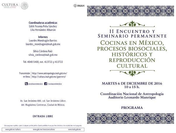 II Encuentro y Seminario Permanente de Cocinas en México 1