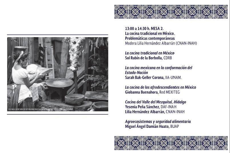 II Encuentro y Seminario Permanente de Cocinas en México programa 2