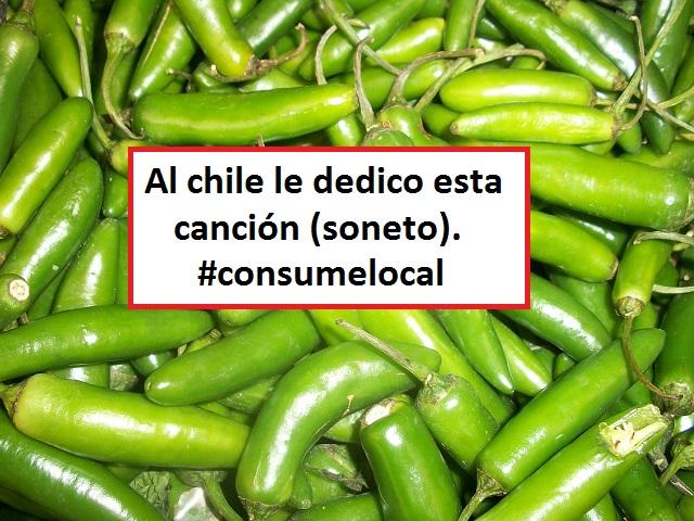 Yo le canto al chile verde (soneto). Consumelocal.
