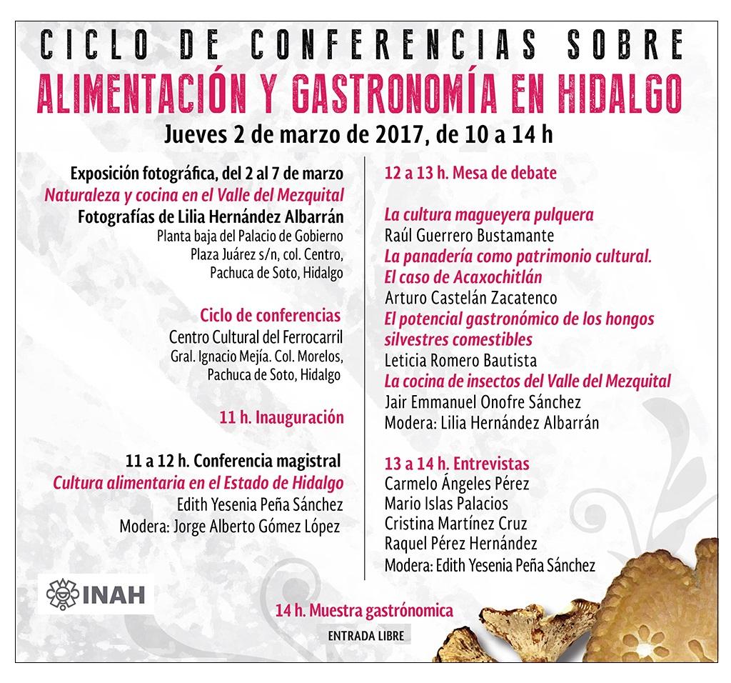 CICLO DE CONFERENCIAS | Alimentación y gastronomía en Hidalgo