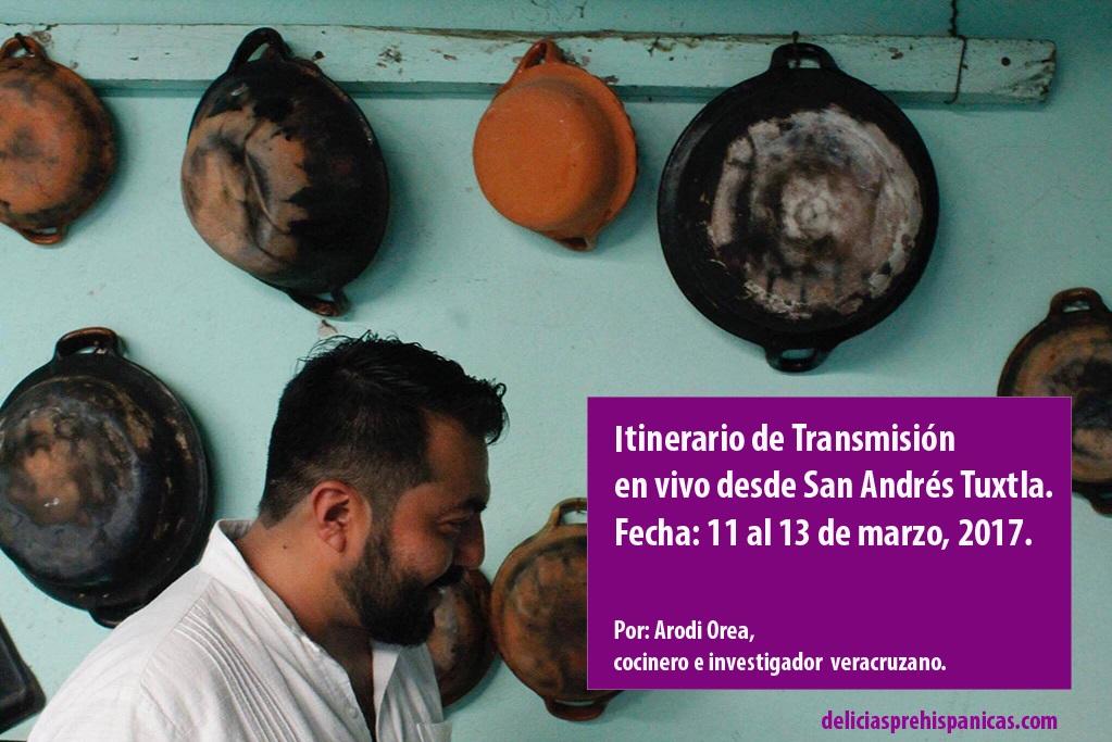 Itinerario de transmisión en vivo desde San Andrés Tuxtla, Ver. Arodi Orea.