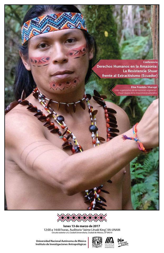 UNAM – Ciclo de CONFERENCIAS «Patrimonio y soberanía alimentaria en la Amazonia Ecuatoriana. Un enfoque antropológico»