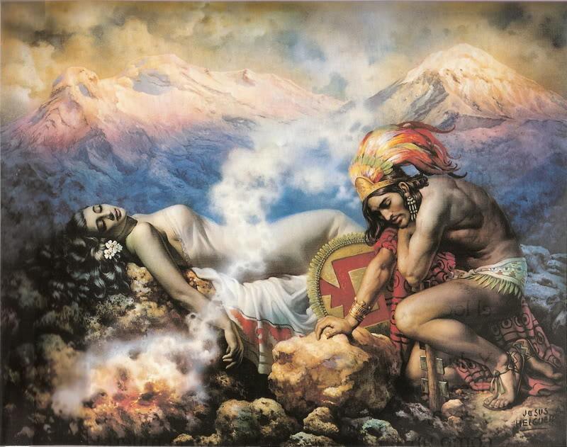 Le Leyenda de los Volcanes Iztaccíhuatl y Popocatépetl