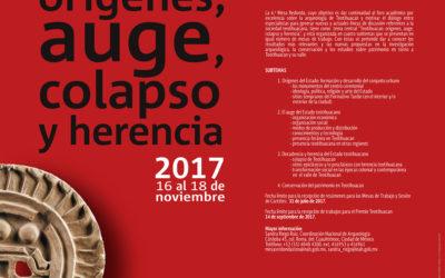 CONVOCATORIA: Orígenes, auge, colapso y herencia de Teotihuacan. 6ta. Mesa Redonda