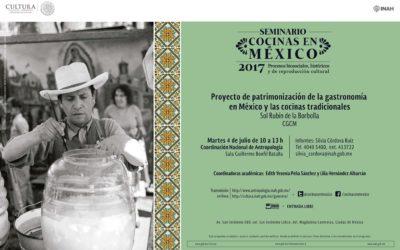CONFERENCIA Proyecto de Patrimonización de la Gastronomía en Mexicana.