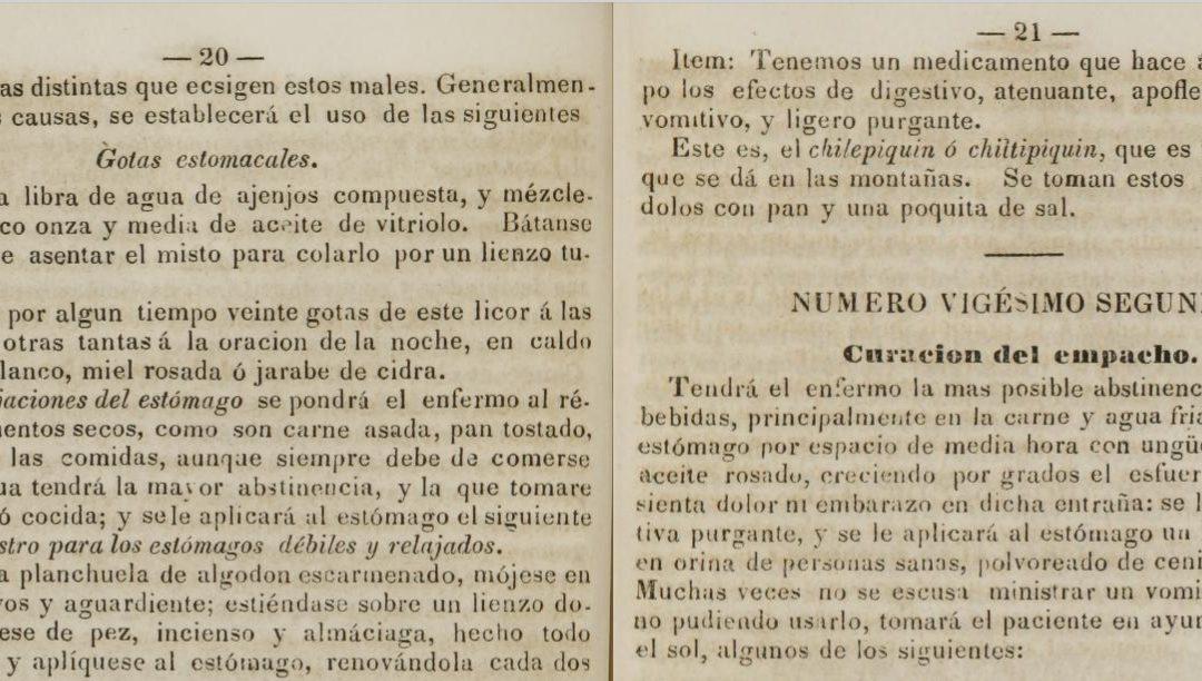 PDF – Remedios, MEDICINA PRÁCTICA y tradicional en este Compendio publicado en México en 1841