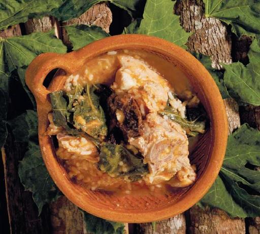 Espinazo de cerdo con chaya: receta de cocina Chiapaneca.