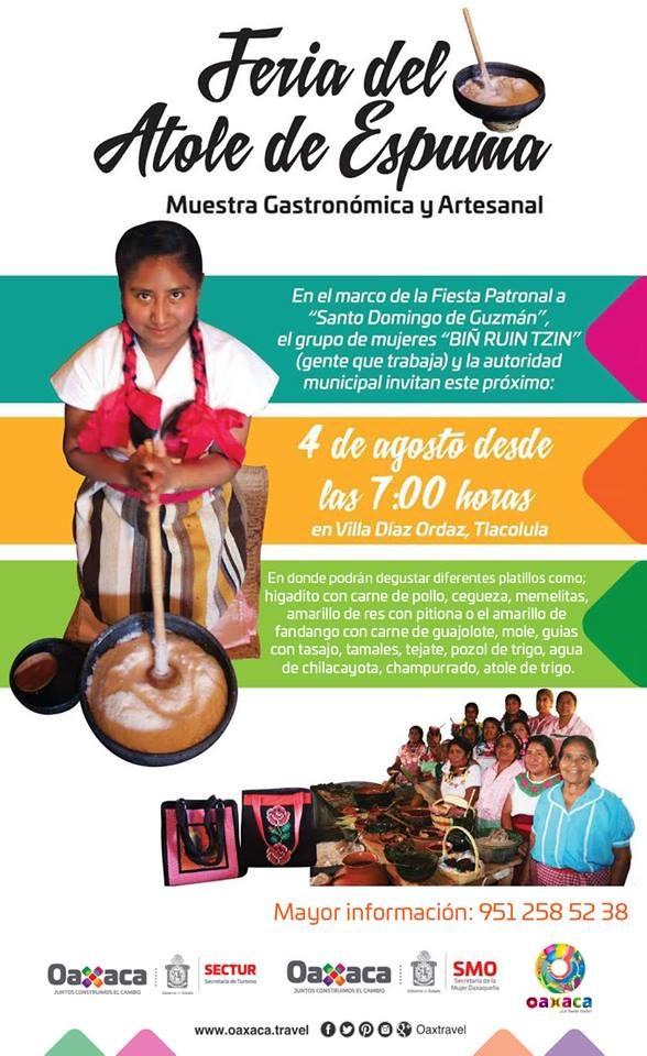 Preparan Feria del Atole de Espuma, Muestra Gastronómica y Artesanal, Oax. 2017