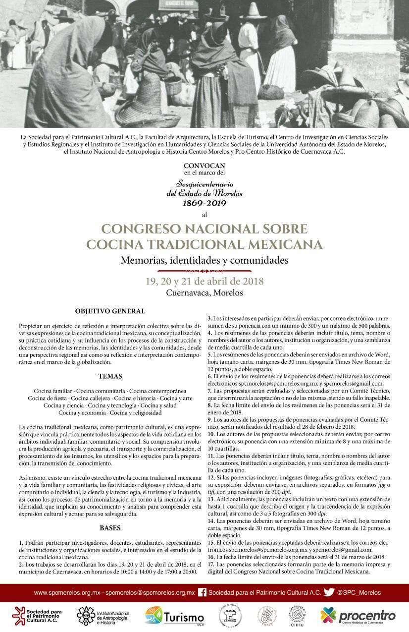 Congreso Nacional Cocina Tradicional Mexicana Memorias Identidades y ...