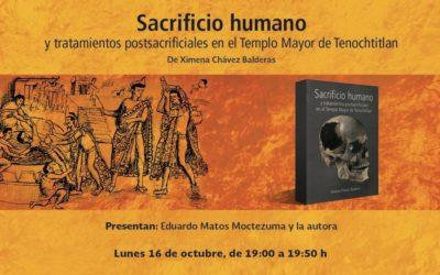 """Presentarán libro """"Sacrificio humano en el Templo Mayor de Tenochtitlán"""""""