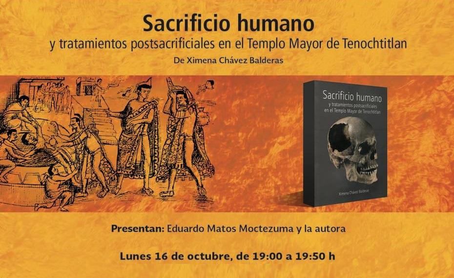 Presentarán libro «Sacrificio humano en el Templo Mayor de Tenochtitlán»