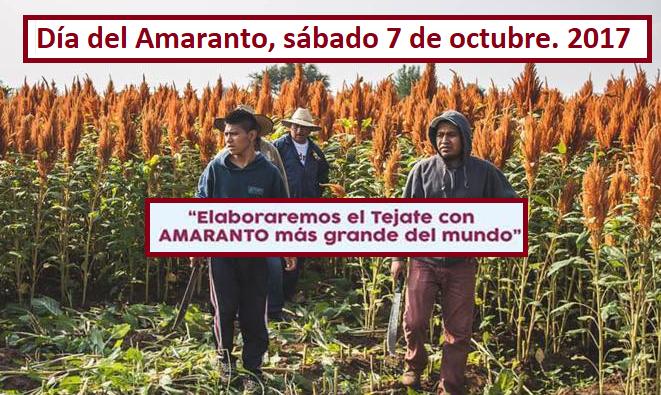 ¡Aparta la fecha! Te invitamos a celebrar el día del Amaranto en Oaxaca.