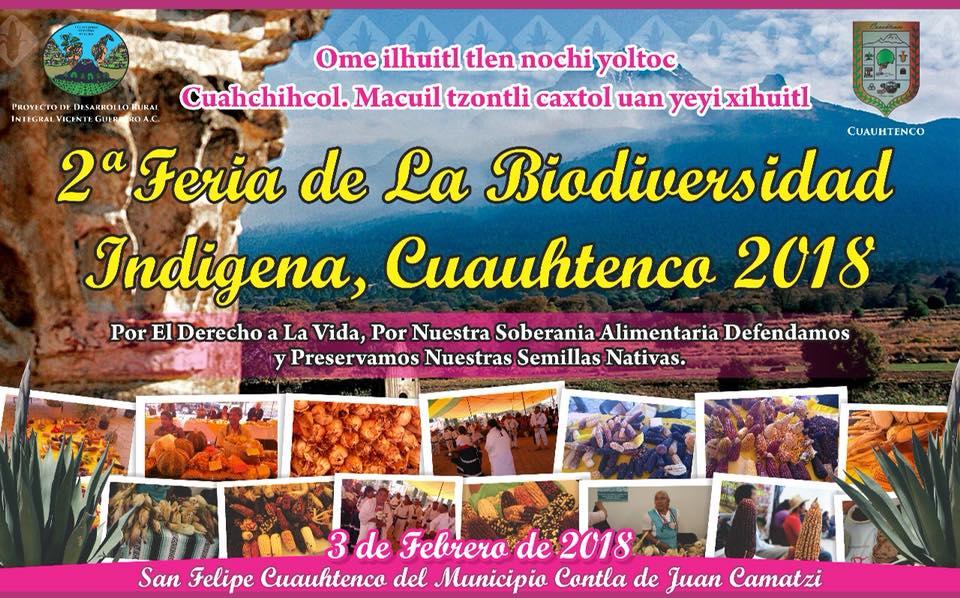 Asiste a la 2da. Feria de la Biodiversidad Indígena en San Felipe Cuauhtenco, Tlaxcala