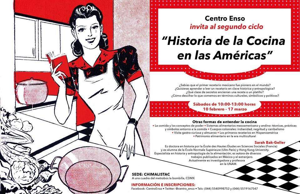 Atenta invitación al curso «Historia de la cocina en las Américas»