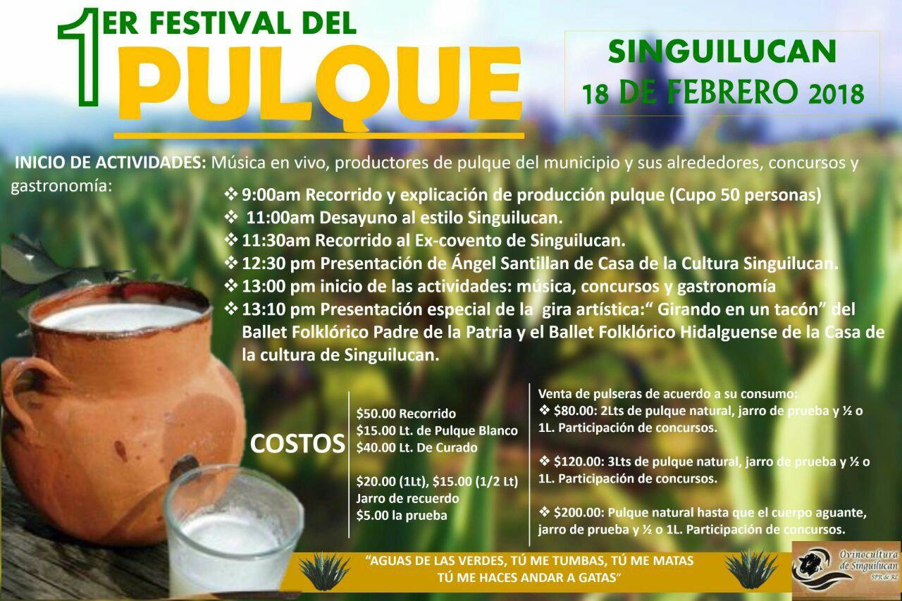 1er. Festival de Pulque de Singuilucan Hidalgo, domingo 18 de febrero