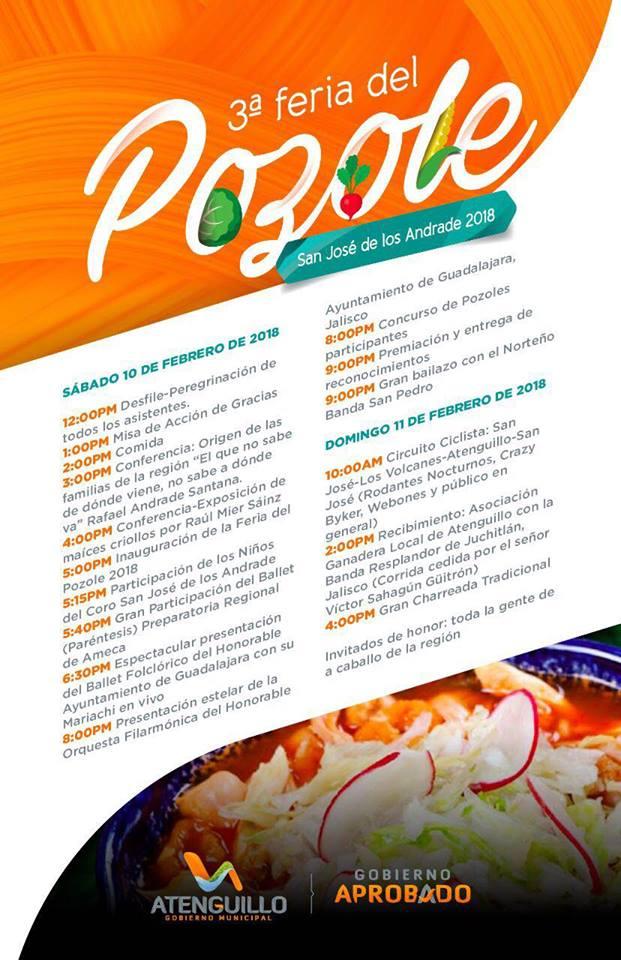 3er. Feria del Pozole en San José de los Andrade, municipio de Atenguillo, Jalisco.