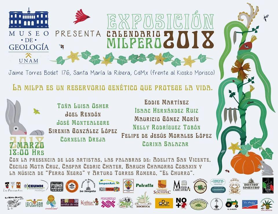 Asiste a la «Exposición Calendario Milpero 2018» CDMX