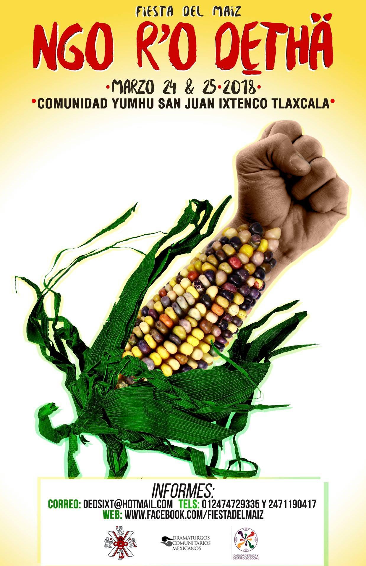 Apoya la Fiesta del maíz de Ixtenco Tlaxcala #Marzo 2018  ¡No a los transgénicos!