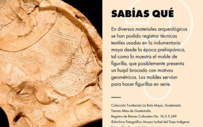 Molde prehispánico de figurilla con huipil. Museo Ixchel del Traje Indígena.
