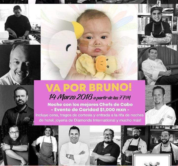 Cena a beneficio VA POR BRUNO 16 Chefs de Cabo San Lucas – 14 de Marzo