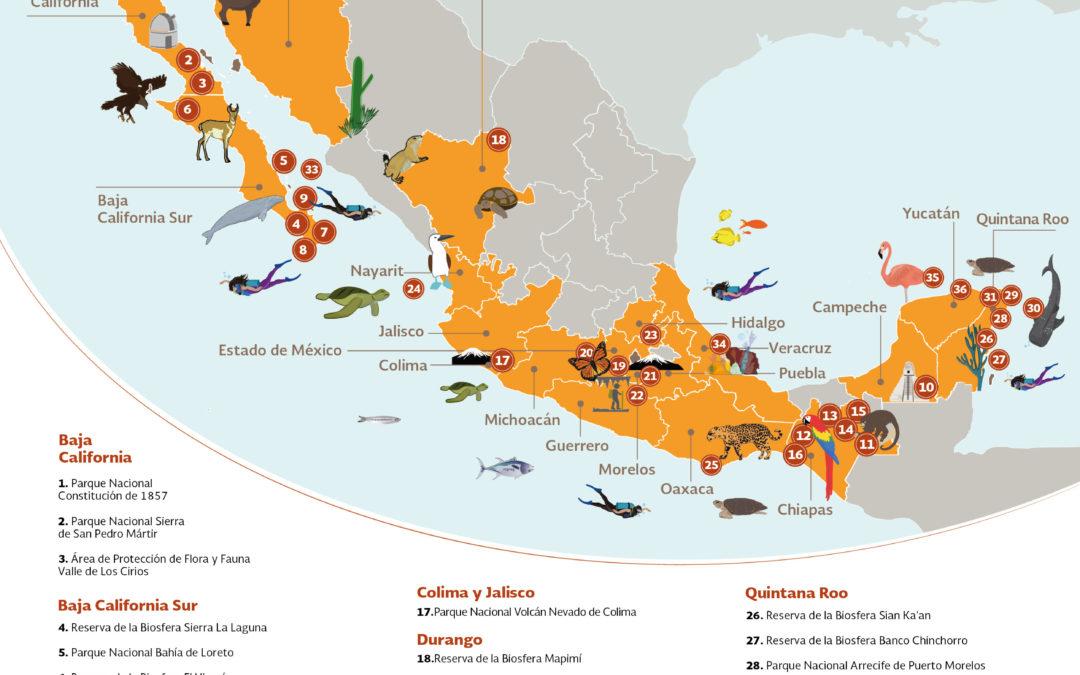 Conoce las 36 Áreas Naturales Protegidas que puedes visitar en estas vacaciones.