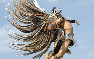 Esta es la danza de los Guerreros Cuauhtli (Águila)